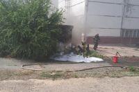 В Оренбурге на Сакмарской ТЭЦ произошел пожар.