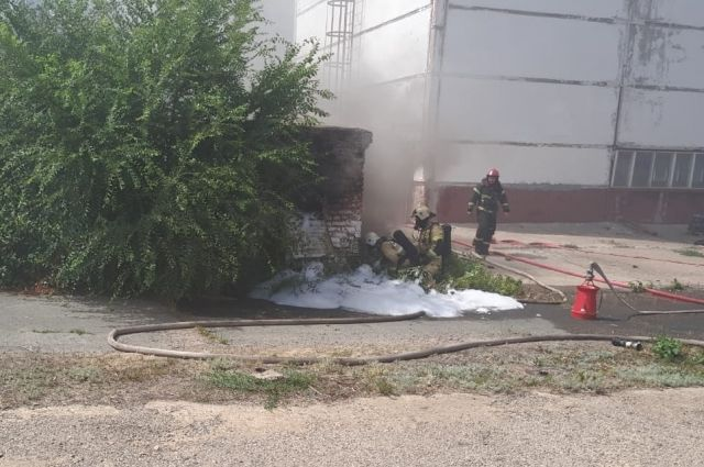 Возгорание на Сакмарской ТЭЦ в Оренбурге было ликвидировано в 15:44.