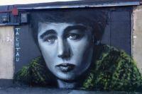 Тюмень украсило граффити Сергеем Бодровым