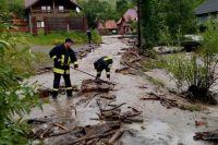 В Закарпатской области снова подтопило населенные пункты