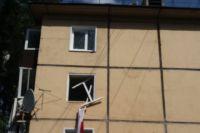 От хлопка газа в квартире выбило окно.