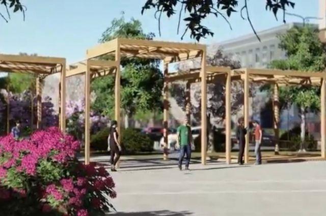 Видео: проект обновленного сквера на ул. 8 Марта в Оренбурге.