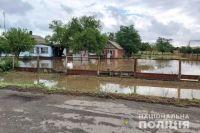 В Херсонской области из-за сильных дождей затопило село