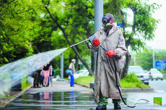 Требования к дезинфекции улиц достаточно жесткие.