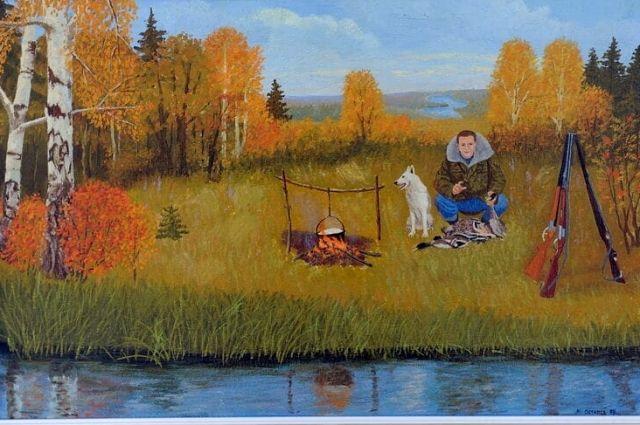 В Оренбургском музее ИЗО открывается персональная выставка художника Михаила Остапова.