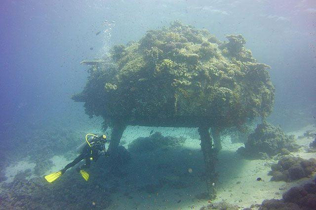 Una delle stazioni sottomarine di Cousteau.
