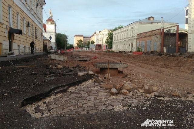 В Оренбурге законсервировали спорную брусчатку на ул. Правды.