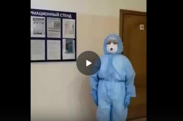Видео: врач из бузулукского ковид-центра просит не выходить без надобности.