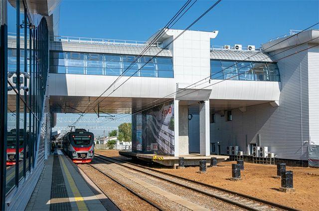 Открытая после реконструкции конечная станция «Нахабино».