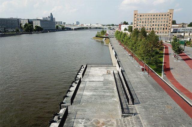Завершение строительства причала на набережной Шагала в квартале «Зиларт».