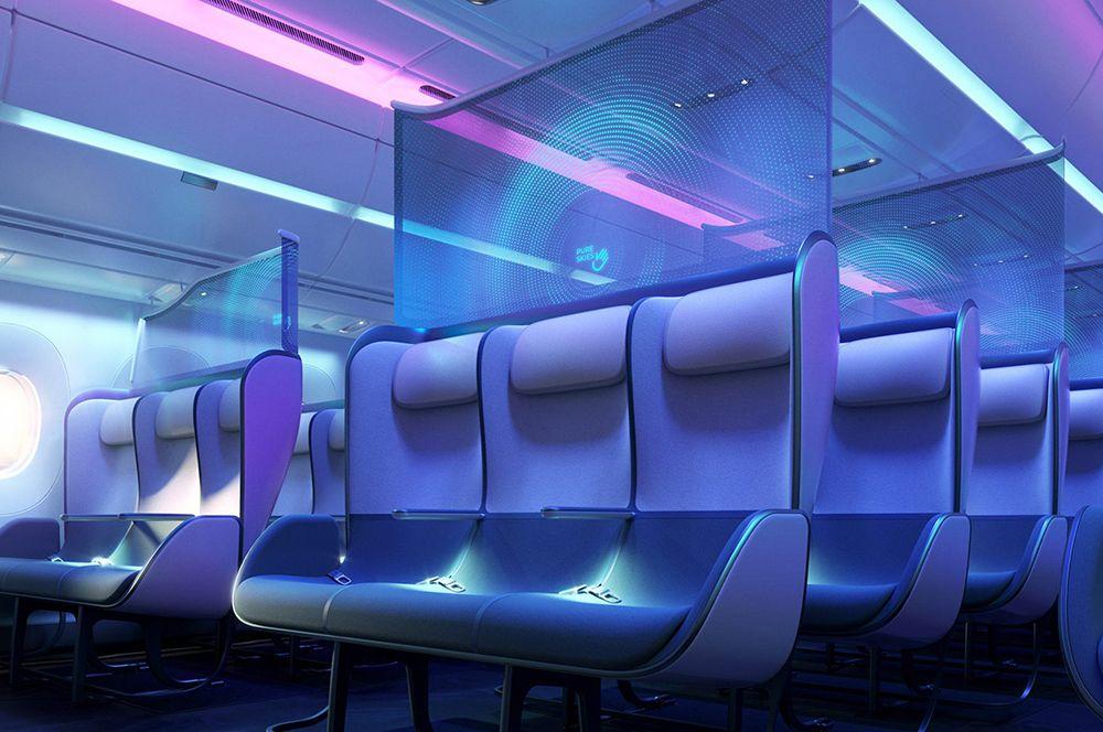 Таким образом на сиденьях появятся соответствующие знаки, которые будут видны во время посадки и исчезнут после того, как пассажиры займут свои места.