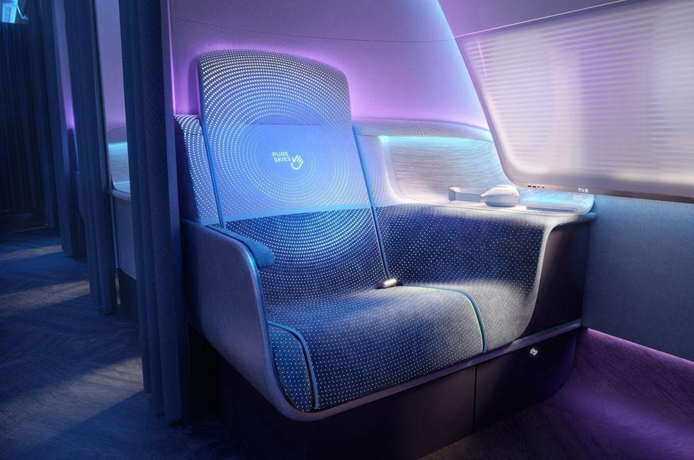 Предполагается, что в ткани на пассажирских креслах будут использоваться фотохромные и термохромные чернила, которые будут реагировать на то, была ли проведена термическая и УФ-очистка.