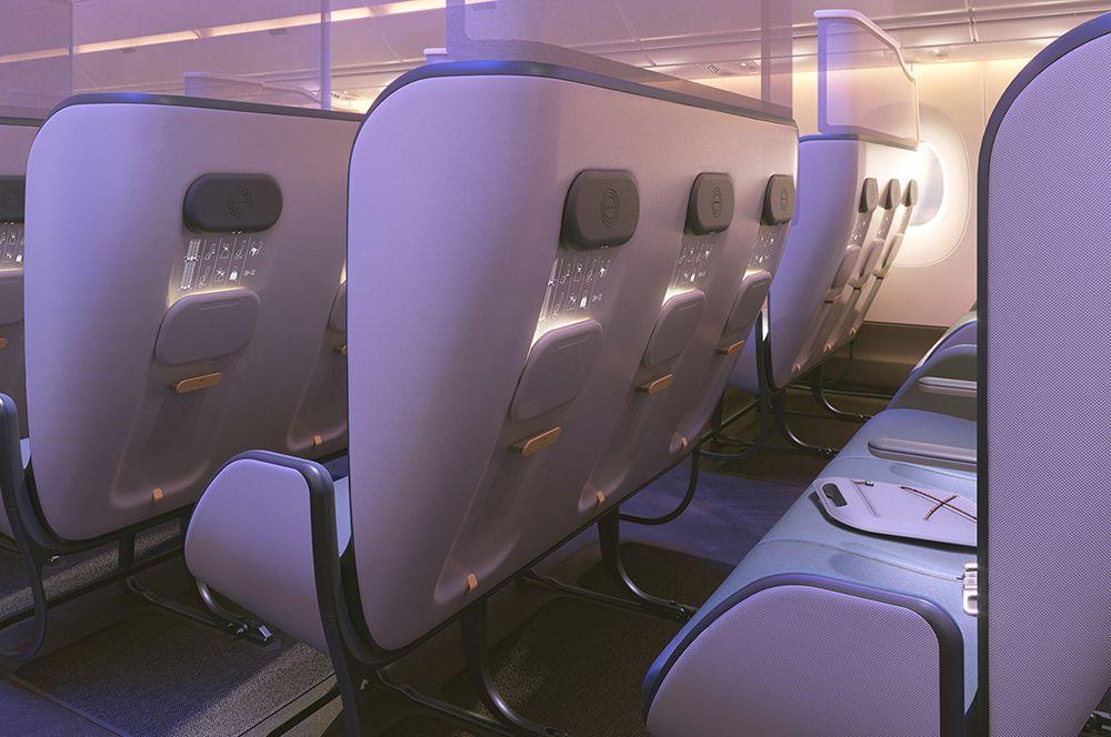 Также на спинках кресел не будет экранов. Предполагается, что под дополнительной поверхностью не будут скапливаться микробы. Также это уменьшит вес самолета, расход топлива и выбросы в атмосферу.