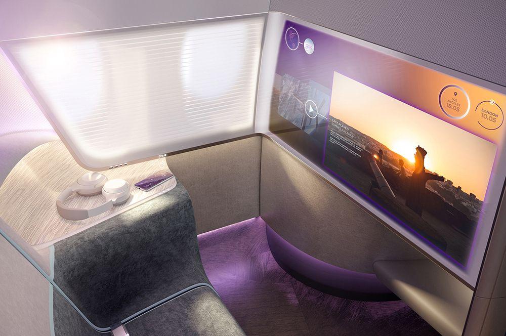 Для пассажиров бизнес-класса и вовсе предусмотрены индивидуальные «кабины».