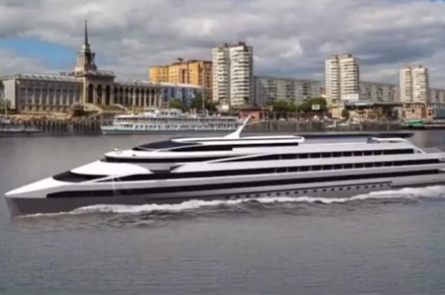 Подобные пассажирские суда в России ещё не строили.