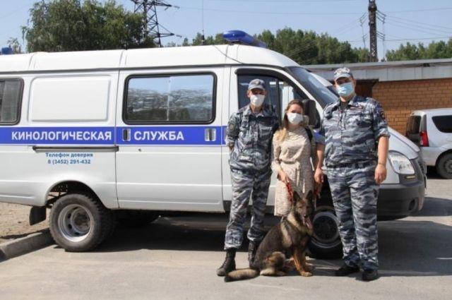Тюменские кинологи проводили на пенсию пса Кузю