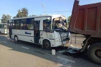 В ДТП с участием автобуса в Тюмени пострадали четыре человека