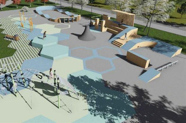 Работы в парке Гвардейский должны быть завершены к середине сентября.