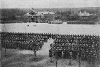 Крепость Осовец. Крепостная церковь. Парад по случаю раздачи Георгиевских крестов. Фото снято не позднее 24 января 1915 г.