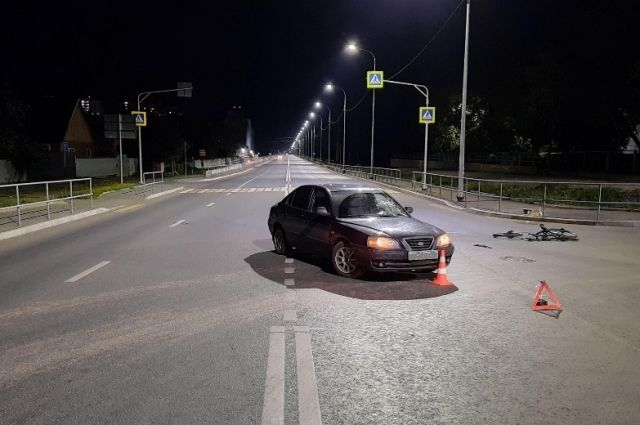В Оренбурге велосипедист попал под колеса иномарки.