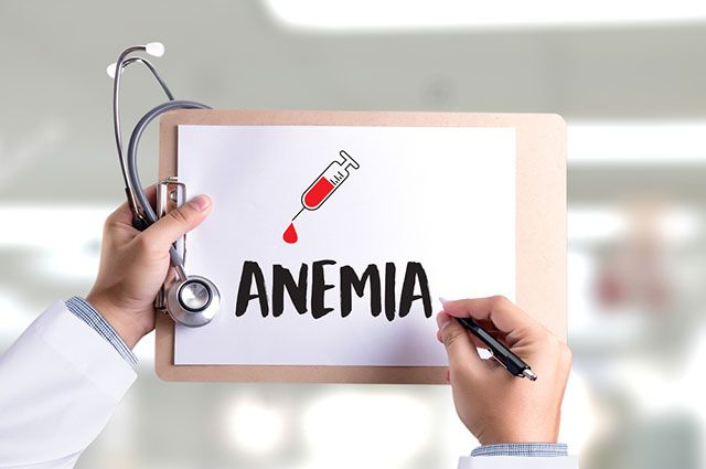 The diagnosis of anemia is made on the basis of a decrease
