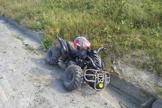 В Тобольском районе школьник на квадроцикле сбил мальчика
