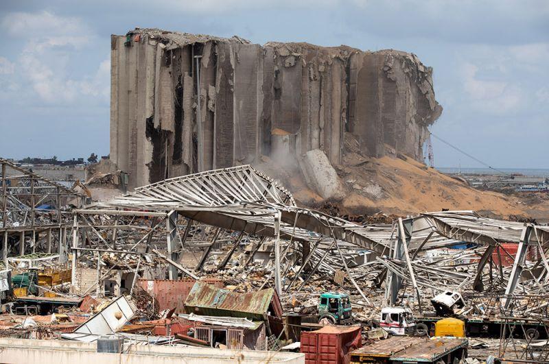Разрушения в Бейруте.