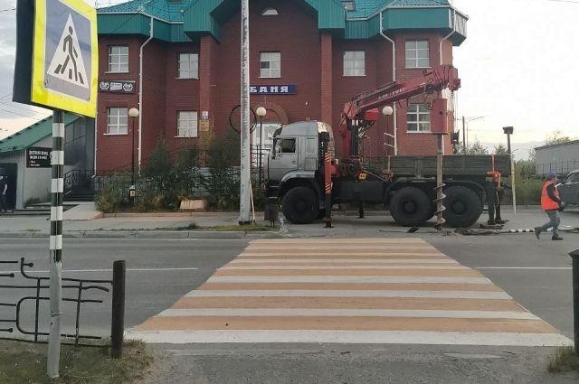 В Салехарде начали внедрять «умные» пешеходные переходы