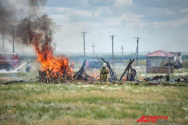 В Оренбуржье до 19 августа сохранится 5 класс пожароопасности..