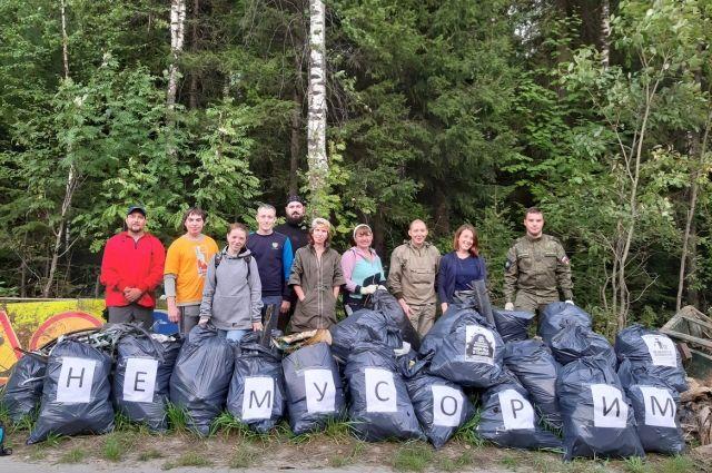 Каждые выходные экоактивисты убирают мусор из леса окружной столицы