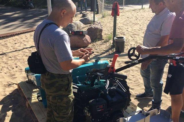 Пляжи в Зеленоградске будут убирать с помощью новой техники
