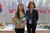 Дарья представила свой бионический протез на множестве выставок.