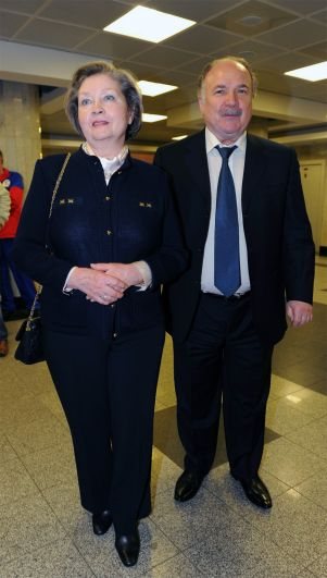 Николай Губенко с женой.
