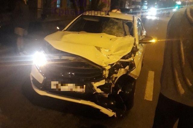 Водитель даже не сделал попытку притормозить.