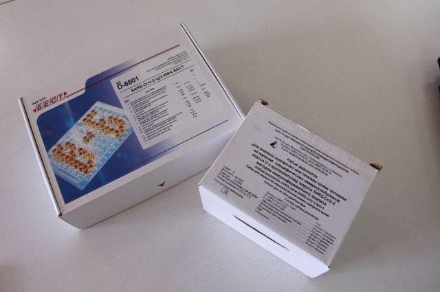 Тест-система для тестирования на антитела к коронавирусной инфекции.