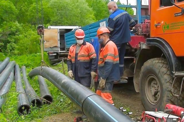 Длина нового водовода составила 10,2 км.