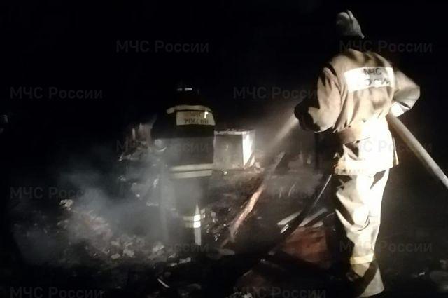 Пожар в селе Верх-Пайва.