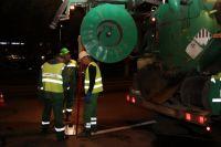 В Тюмени под улицей Широтной промыли 716 метров трубопровода