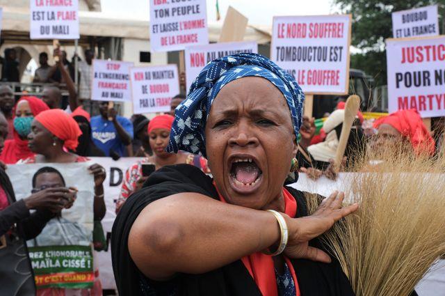 Массовая акция протеста оппозиции в Мали.