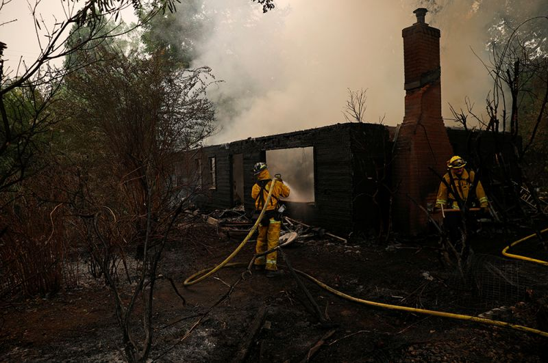 Сгоревший дом в городе Вакавиль.
