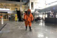 Тюменский аэропорт Рощино повторно продезинфицировали