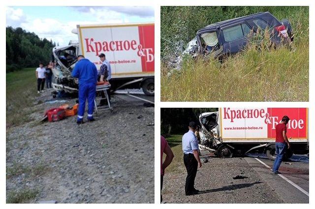 На тюменской трассе из-за грузовика на встречной погиб водитель иномарки