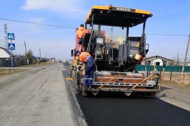 В Тюменской области завершают ремонт участка трассы Каменка – Успенка