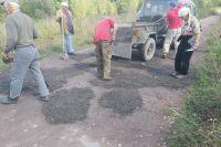 Местные жители вышли на участки дорог дорог Алексеевка - Ананьино и Алексеевка - Апанас.