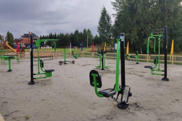 В селе Каменка Тюменского района открыли тренажерную площадку