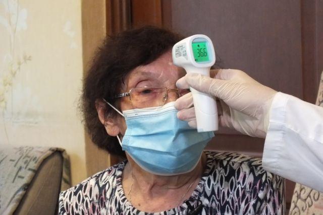 Очередной осмотр подтвердил - пациентка здорова.