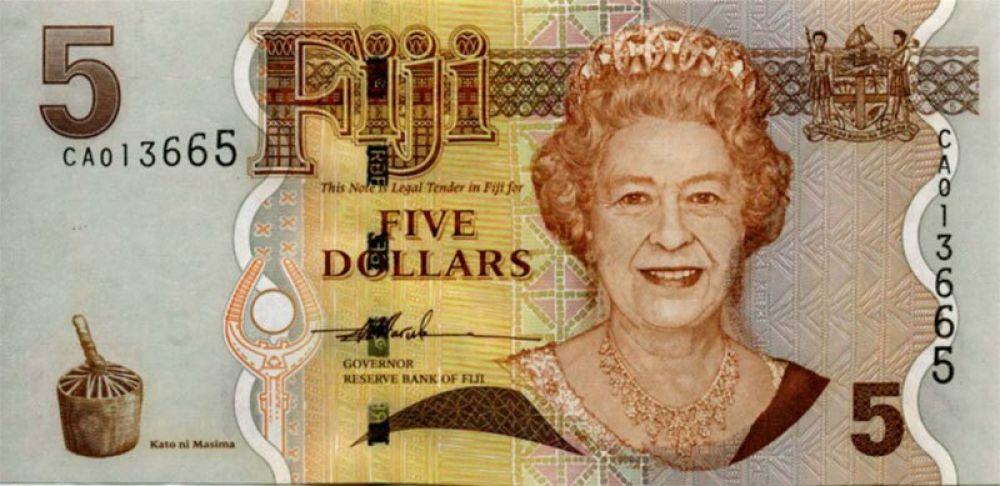 73 года — 5 долларов Фиджи, выпуск 2007 года.