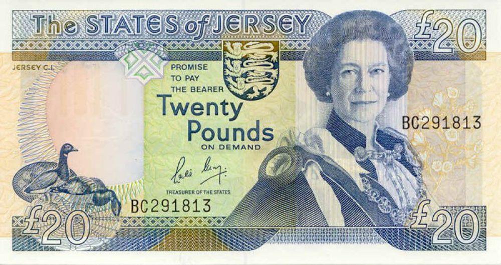 52 года —  20 джерсийских фунтов, выпуск 1989 года.