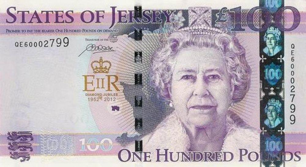 78 лет — 100 джерсийских фунтов, выпуск 2012 года.