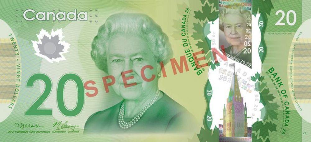 85 лет — 20 канадских долларов, выпуск 2012 года.